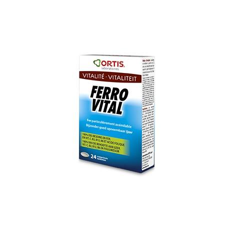 Ferro Vital - 24 Comprimés - Ortis