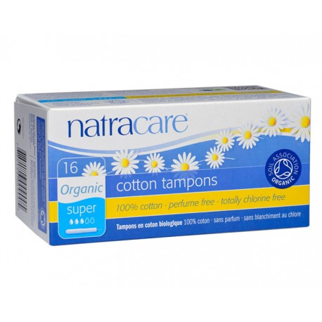 Tampons Coton Naturel Super avec Applicateur - x16 - Natracare