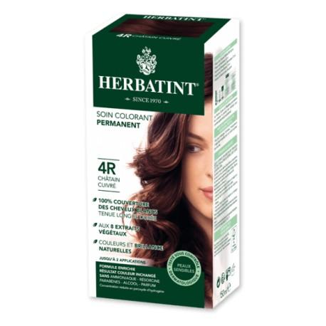 Coloration Cheveux Naturelle 4R Châtain cuivré - 150ml - Herbatint