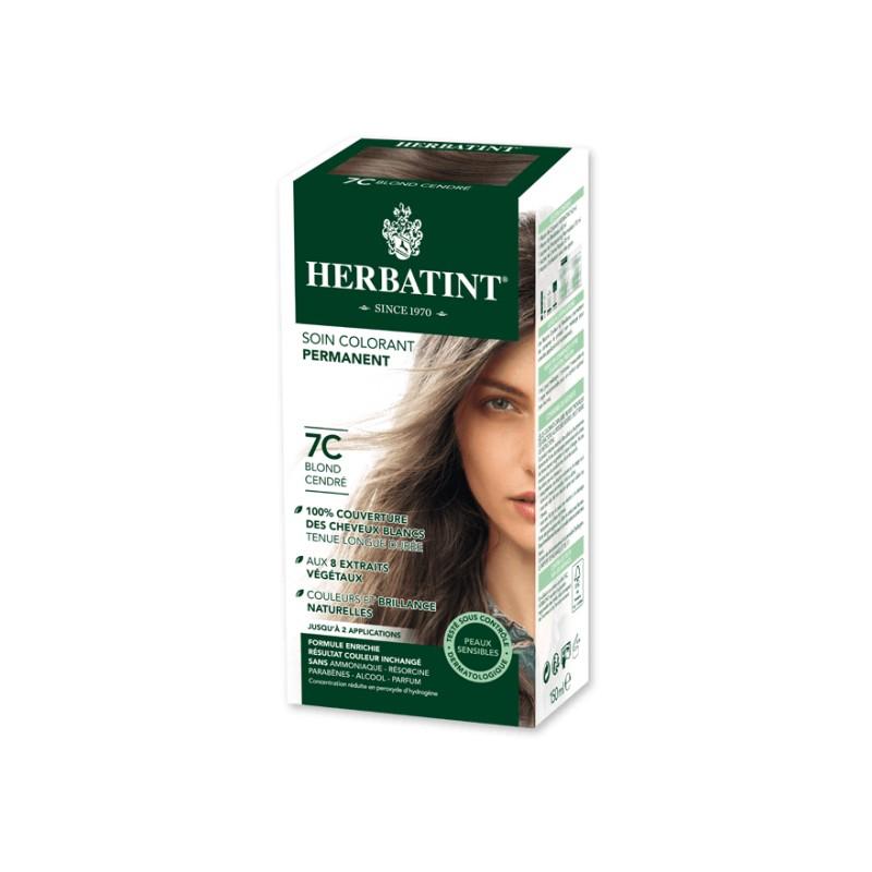 Coloration Cheveux Naturelle 7c Blond Cendré 150ml Herbatint
