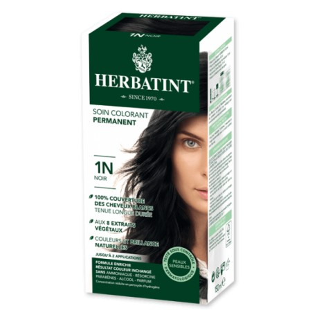 Coloration Cheveux Naturelle 1N Noir - 150ml - Herbatint