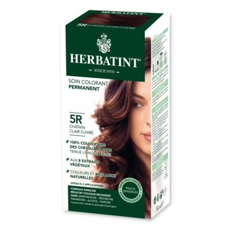 Coloration Cheveux Naturelle 5R Châtain Clair Cuivré - 150ml - Herbatint