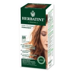 Coloration Cheveux Naturelle 8R Blond Clair Cuivré - 150ml - Herbatint