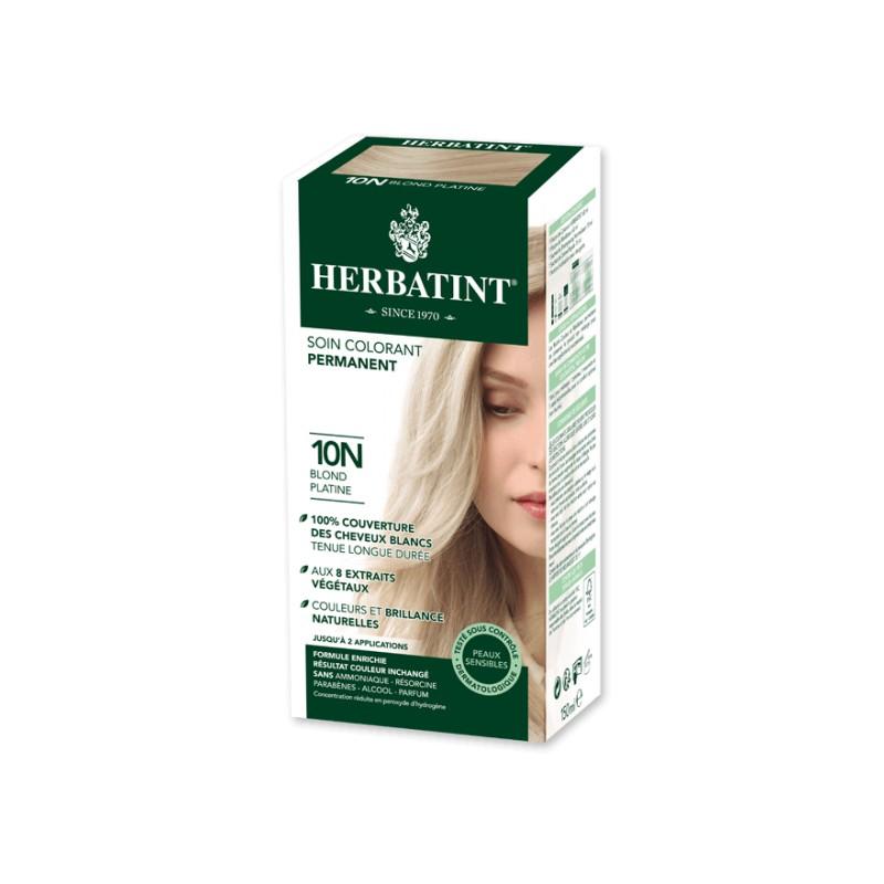 coloration cheveux naturelle 10n blond platine 150ml herbatint. Black Bedroom Furniture Sets. Home Design Ideas