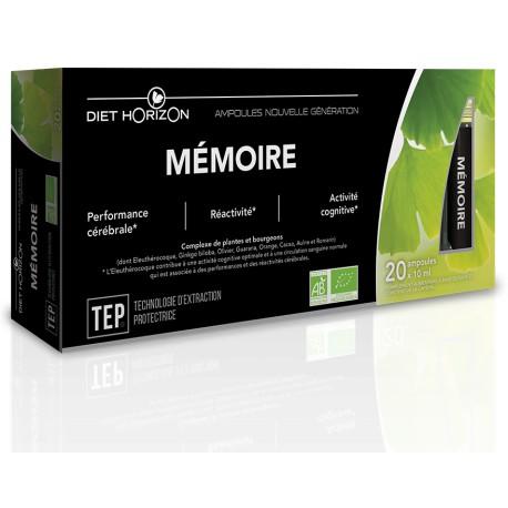 Mémoire Ampoules - 20 x 10ml - Diet Horizon